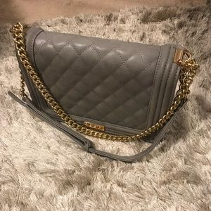 BCBG quilted gray bag